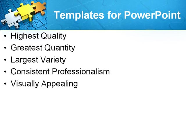 PowerPoint Template - blue, puzzle, business - Print Slide