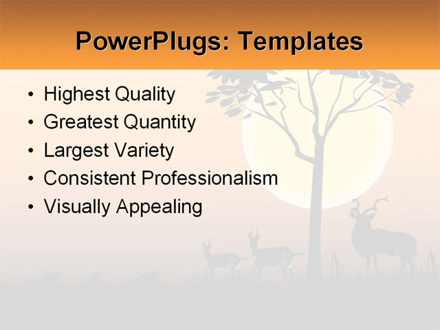 PowerPoint Template - africa, animal, exotic - Print Slide