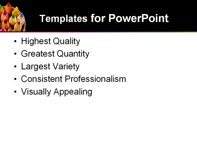 PowerPoint Template - color, pencils, art - Print Slide