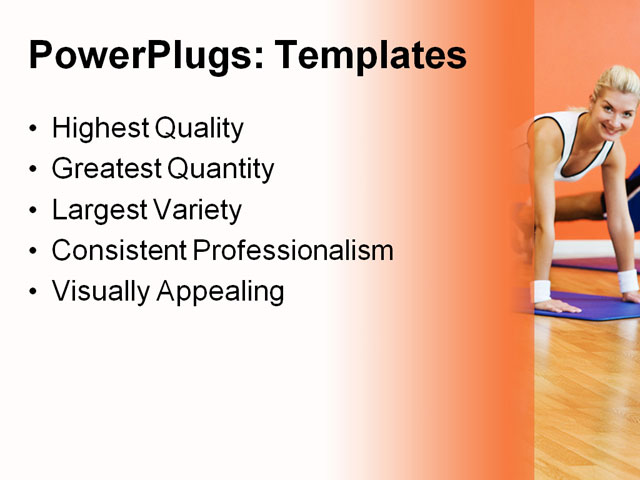 PowerPoint Template - energy, exercise, female - Print Slide