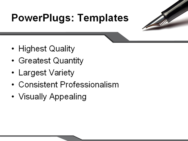 PowerPoint Template - contract, pen, paper - Print Slide