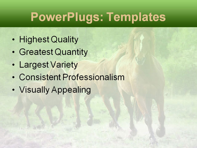 PowerPoint Template - animals, brown, chase - Print Slide