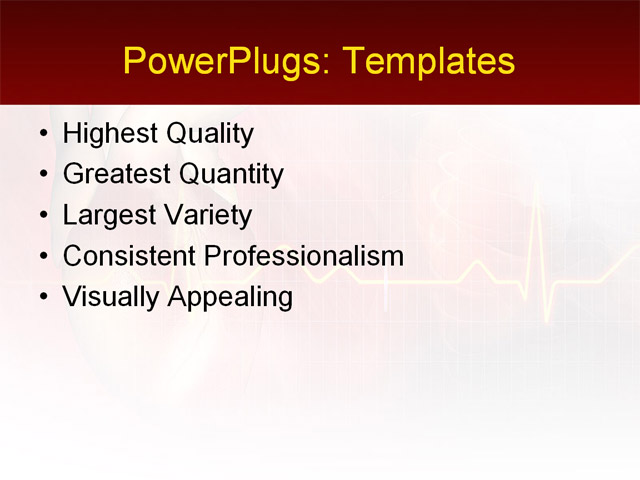 PowerPoint Template - science, medical, health - Print Slide