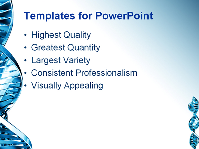 PowerPoint Template - medical, healthcare, science - Print Slide