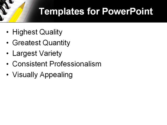 PowerPoint Template - education, notebook, school - Print Slide