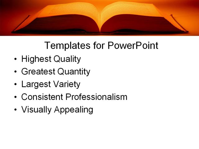 PowerPoint Template - education, book, learning - Print Slide