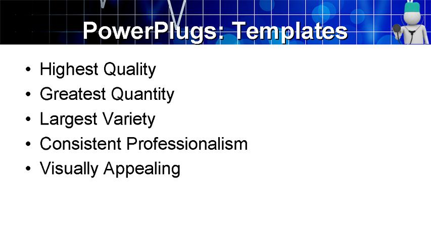 PowerPoint Template - medical, health, services - Print Slide