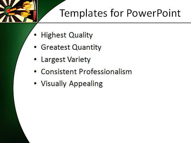 PowerPoint Template - target, aim, success - Print Slide