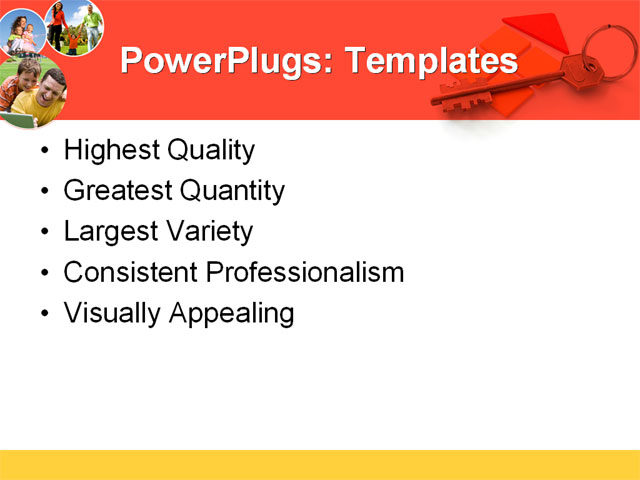 PowerPoint Template - house, family, security - Print Slide