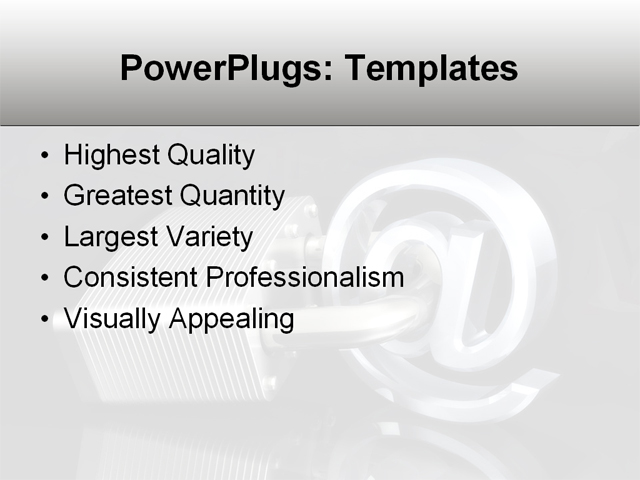 PowerPoint Template - communicate, data, computer - Print Slide