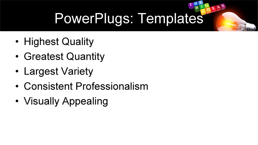 PowerPoint Template - business, marketing, sales - Print Slide