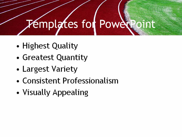 PowerPoint Template - track, field, running - Print Slide